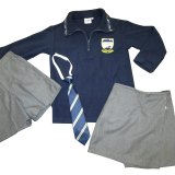 Polar Fleece, Tie, Grey Skort-(Girls) & Shorts (Boys)